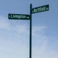 Livingston Ave and Northfield Rd street sign.png