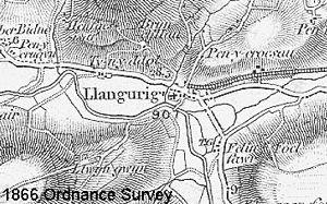 Carmarthen–Aberystwyth line - The Llangurig branch as built