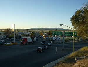 Santa Ana, Sonora - Highway junction in Santa Ana