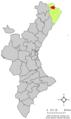 Localització de Rossell respecte del País Valencià.png