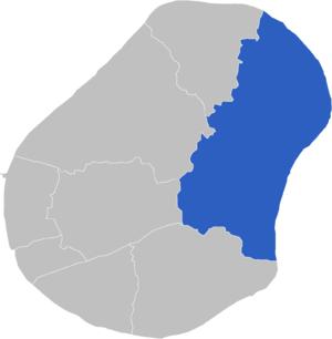 Constituencies of Nauru - Image: Locatie Constituency Anabar