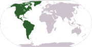 World map showing the Americas