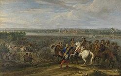 Adam Frans van der Meulen: Louis XIV Crossing into the Netherlands at Lobith