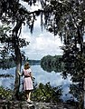 Lois Duncan Steinmetz gazing at the Suwannee River (8670981193).jpg