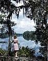 Lois Duncan Steinmetz gazing at the Suwannee River (8670981193).jpg