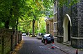 London - at the back of Brompton Oratory - View NNW along Entrance to Holy Trinity Brompton.jpg