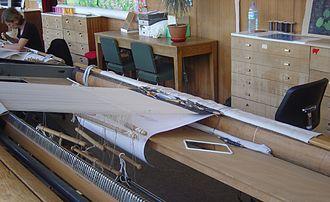 Gobelins Manufactory - Image: Loom basse lisse DSC08828