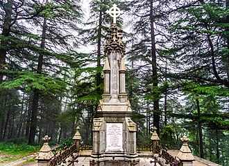 Dharamshala - The tomb of James Bruce, 8th Earl of Elgin at St. John in the Wilderness Church