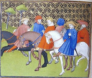 Ludwig the Pious on horseback
