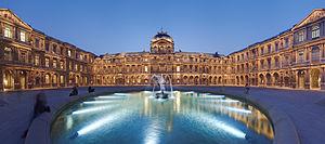 اكثر المتاحف زيارات فى العالم , المتاحب التي حصلت على اعلى زيارات في العالم 300px-Louvre_Cour_Ca