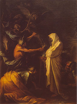 Apparition of the spirit of Samuel to Saul, by Salvator Rosa, 1668 Louvre rosa apparition.jpg
