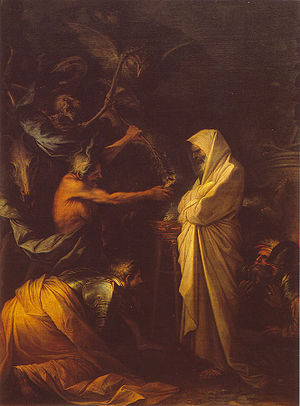 Samuel - Apparition of the spirit of Samuel to Saul, by Salvator Rosa, 1668.
