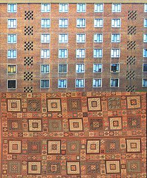 Spa Green Estate - bedroom façade and Verneh kilim