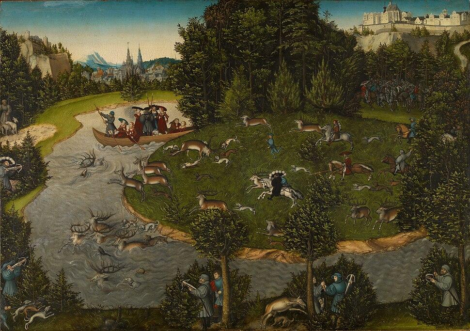 Lucas Cranach d.%C3%84. - Hirschjagd des Kurf%C3%BCrsten Friedrich des Weisen (Kunsthistorisches Museum)