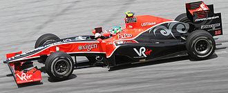 Lucas di Grassi - Di Grassi took his and the Virgin team's first race finish at the 2010 Malaysian Grand Prix.