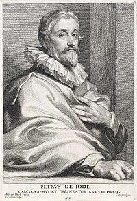 Lucas Vorsterman (I), after Anthony van Dyck - Portrait of Pieter de Jode (I).jpg