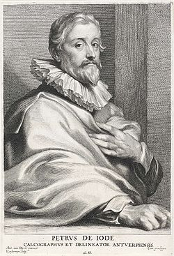 Lucas Vorsterman (I), after Anthony van Dyck - Portrait of Pieter de Jode (I).jpg