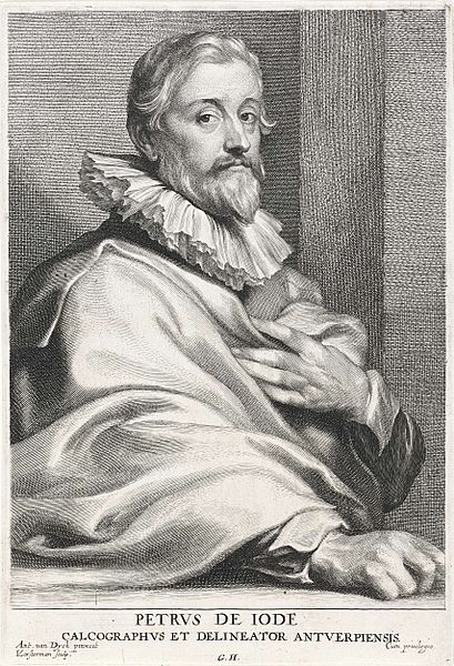File:Lucas Vorsterman (I), after Anthony van Dyck - Portrait of Pieter de Jode (I).jpg