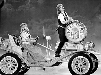 Wildcat (musical) - Lucille Ball and Paula Stewart enacting a scene from Wildcat on the television program The Ed Sullivan Show, 1961