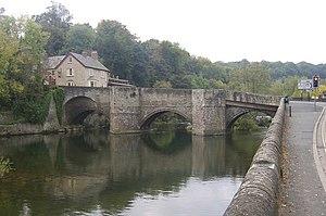 Ludford Bridge à Ludlow sur la rivière Teme