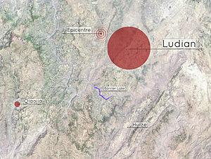 2014 Ludian earthquake - Image: Ludian earthquakemap