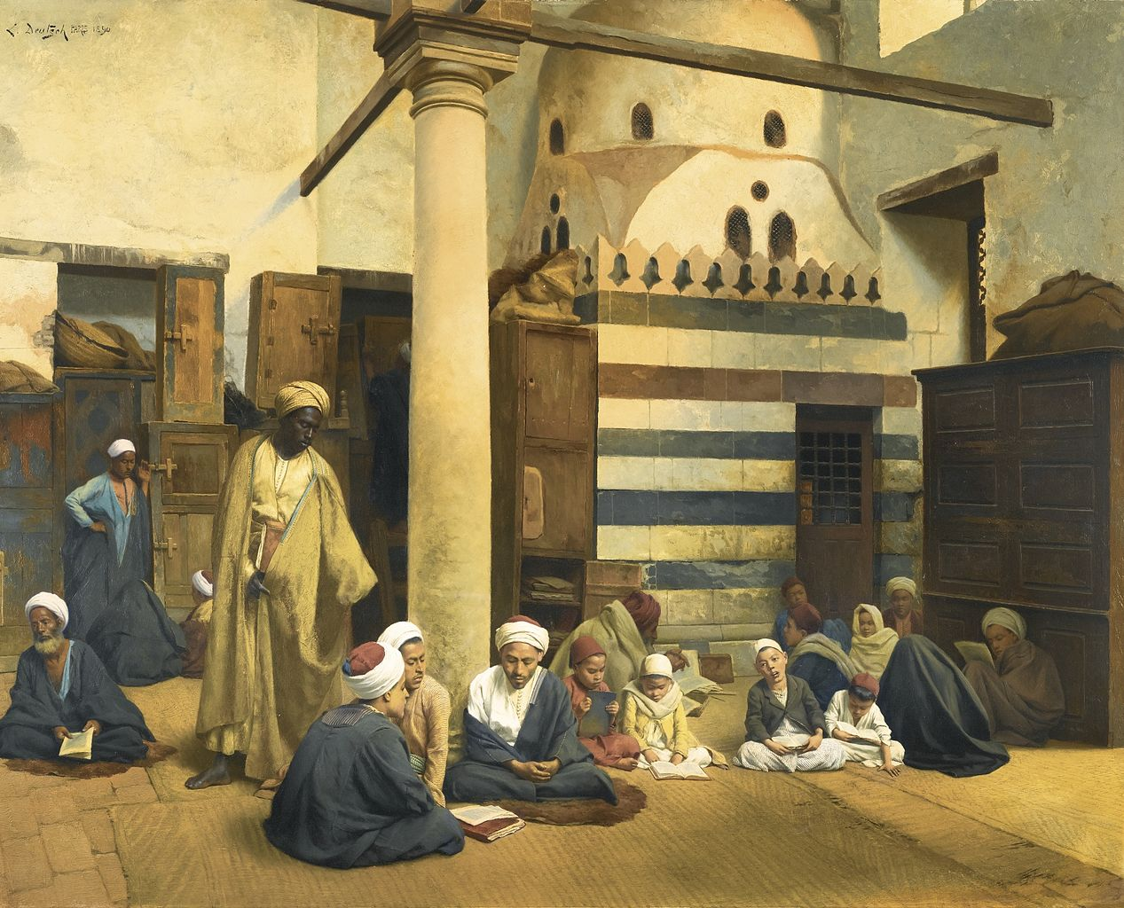File:Ludwig Deutsch - In the madrasa.jpeg - Wikimedia Commons