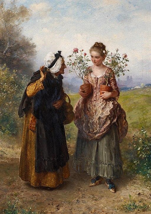 Ludwig Knaus - Dornen und Rosen (1875)
