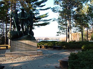 Lumberman's Monument - Image: Lumbermans Monument Overview