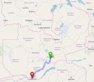 Lusaka–Livingstone Road Road in Zambia