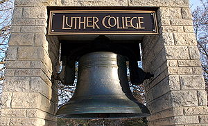 Luther College (Iowa) - The Luther bell, which stands in front of the Dahl Centennial Union