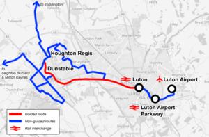 Houghton Regis - Luton to Houghton Regis busway