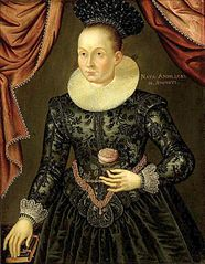 Portrait of a lady with a rose.