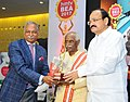 M. Venkaiah Naidu presented the HMTV and Hans India Business Excellence Awards 2017, at a function, in Hyderabad (1).jpg