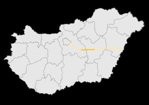 M4 motorway (Hungary) - Image: M4 autópálya térkép