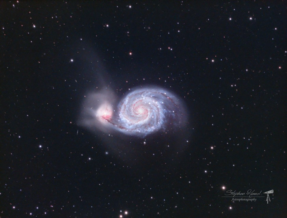 M51 Whirlpool Galaxy LRGB filtered