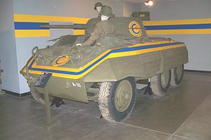 United States Constabulary - An M8 in the Patton Museum, Ft. Knox KY