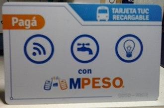 MPeso - Image: M Peso TUC card