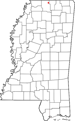 Location of Hudsonville in the state of Mississippi