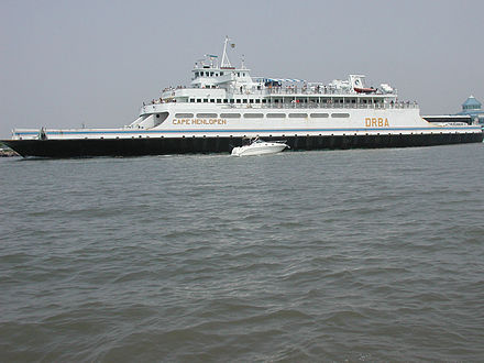 The Cape May-Lewes Ferry connects New Jersey and Delaware across the Delaware Bay MVCapeHenlopen.jpg