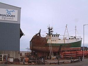 Macduff, Aberdeenshire - Boatyard in Macduff