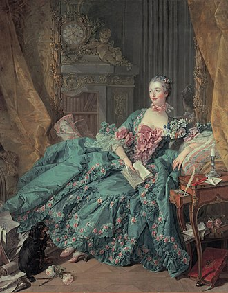 Novel - Madame de Pompadour spending her afternoon with a book, 1756.