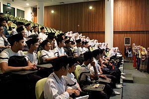 Islam in Singapore - Students of Madrasah Aljunied Al-Islamiah in Singapore