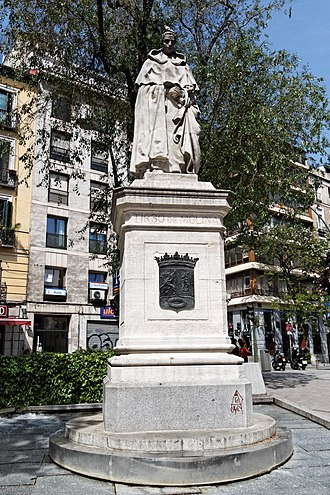 Tirso de Molina - Monument to Tirso de Molina in Madrid (R. Vela, 1943)