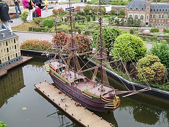 Amsterdam (VOC ship) - Scale model of the Amsterdam in Madurodam in The Hague