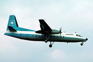 Maersk Air - A Fokker F27 in 1976