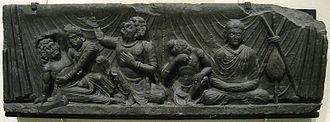 Parinirvana - Attendants to the Parinirvana, Gandhara, Victoria and Albert museum