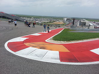 Circuit of the Americas - A view of the main straight from Turn 1 (after the 2014 MotoGP race)