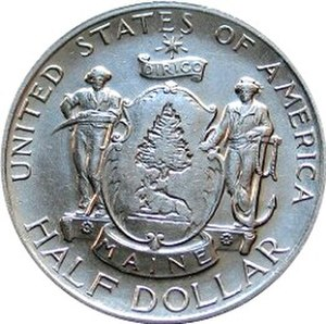 Maine Centennial half dollar - Image: Maine centennial half dollar commemorative obverse