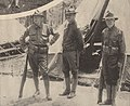 Major Bass, Robert Bacon, and and W. C. Thompson at Fort Oglethorpe, Georgia, May 1916.jpg