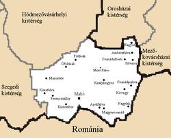magyarország térkép makó Makói kistérség – Wikipédia magyarország térkép makó